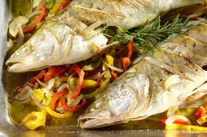 Frisch zubereiteter Fisch